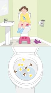 Pottekalender opslag toilet